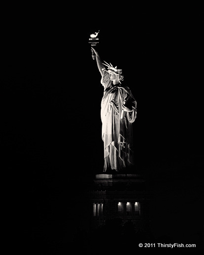 Lady Liberty In The Dark