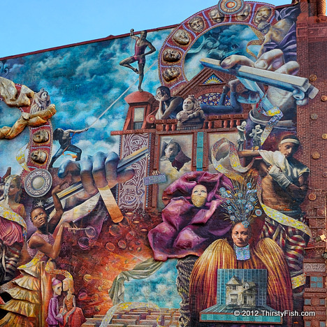 Mural Mile #13: Theater of Life (Detail)