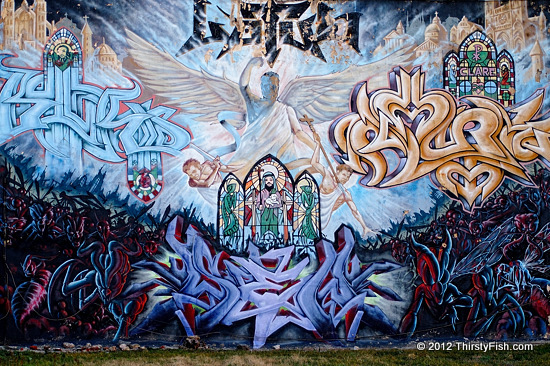 Philadelphia Mural (South St. and S. 13th) - St. Michael the Archangel