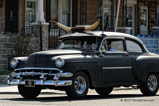 1954 Chevy with Longhorns