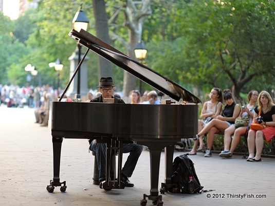 Baby Grand Piano at Washington Square Park