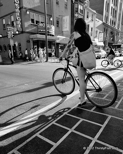 Biking Through Chinatown
