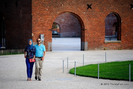 Muslim Couple at  the Tobacco Warehouse