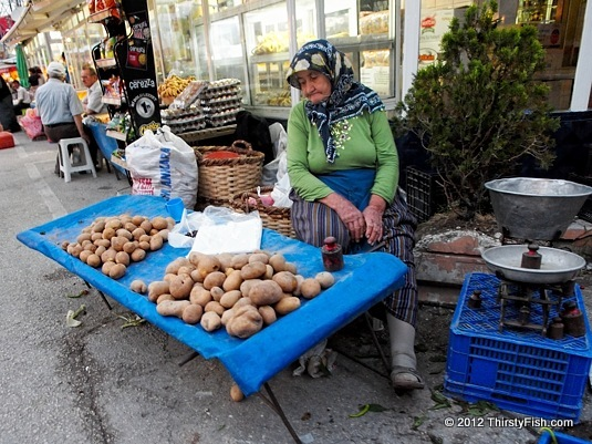 Selling Potatoes at the Bolu Bazaar