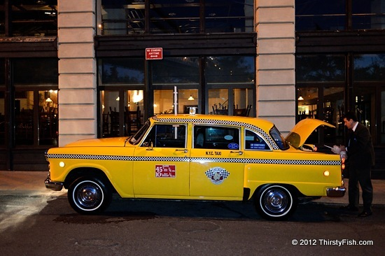 Checker Cab Wedding