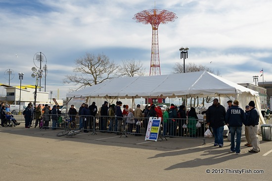 Hurricane Sandy; Coney Island Food Distribution Center