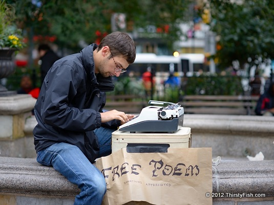 Free Poems in Union Square
