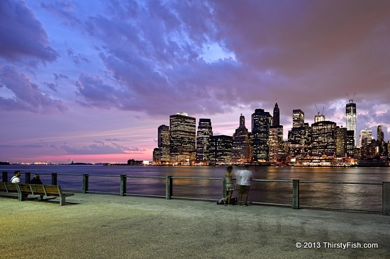 Pink Skies over New York City