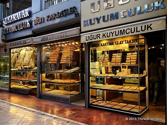 Gold at Eskisehir Jewelers Alley