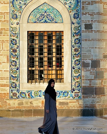 Woman In Front Of Konak Mosque - Religion and Maps