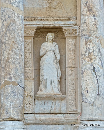 Arete at the Library of Celsus