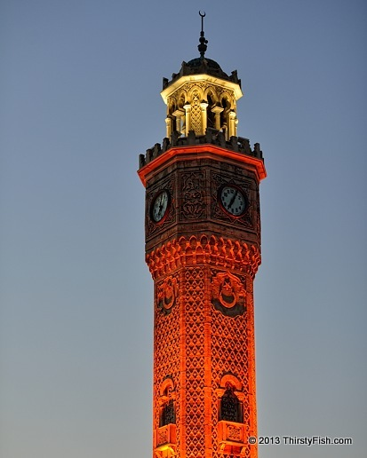 Izmir Clock Tower at Night