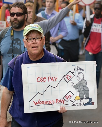 Occupy May Day 2013: CEO Pay vs Worker's Pay