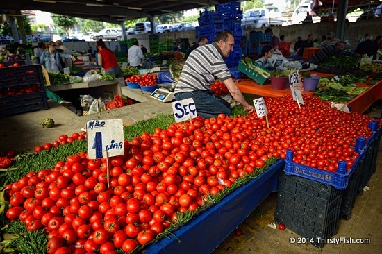 No Hormone Tomatoes At The Urla Bazaar