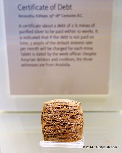 Certificate of Debt From 4,000 Years Ago
