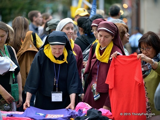 Sisters Purchasing Pope Francis T-Shirts