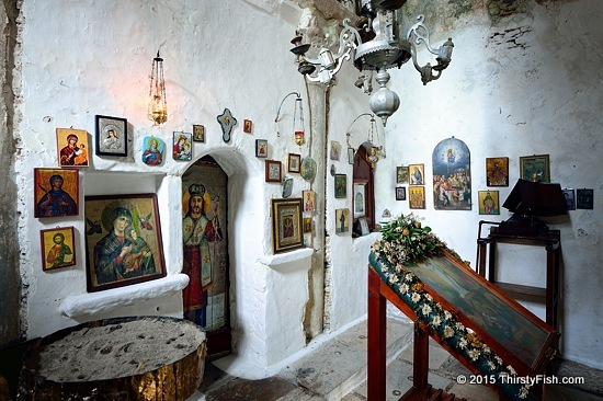 Inside Metamorphosi Church, Karlovasi Samos