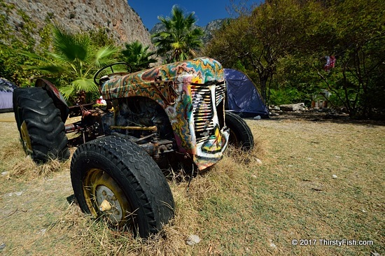 Peace Tractor at Butterfly Valley